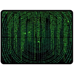 Matrix Communication Software Pc Double Sided Fleece Blanket (large)  by BangZart