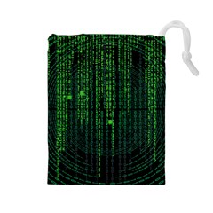 Matrix Communication Software Pc Drawstring Pouches (large)
