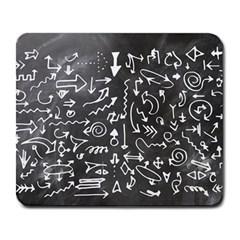 Arrows Board School Blackboard Large Mousepads by BangZart
