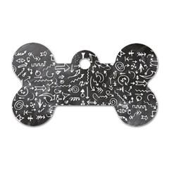 Arrows Board School Blackboard Dog Tag Bone (one Side)