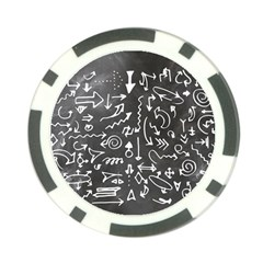 Arrows Board School Blackboard Poker Chip Card Guard