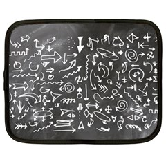 Arrows Board School Blackboard Netbook Case (xl)