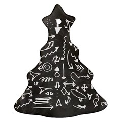 Arrows Board School Blackboard Christmas Tree Ornament (two Sides)