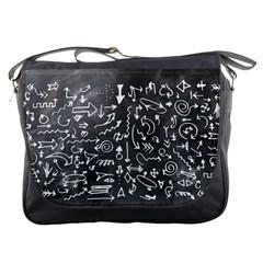 Arrows Board School Blackboard Messenger Bags