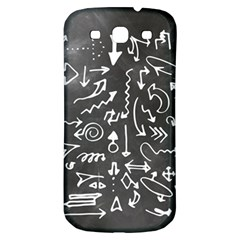 Arrows Board School Blackboard Samsung Galaxy S3 S Iii Classic Hardshell Back Case