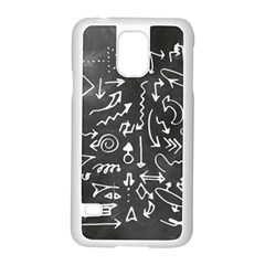 Arrows Board School Blackboard Samsung Galaxy S5 Case (white) by BangZart