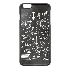Arrows Board School Blackboard Apple Iphone 6 Plus/6s Plus Black Enamel Case by BangZart