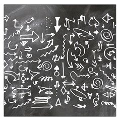 Arrows Board School Blackboard Large Satin Scarf (square)