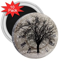 Snow Snowfall New Year S Day 3  Magnets (10 Pack)