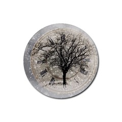 Snow Snowfall New Year S Day Rubber Round Coaster (4 Pack)  by BangZart
