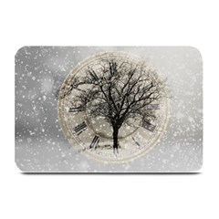 Snow Snowfall New Year S Day Plate Mats by BangZart