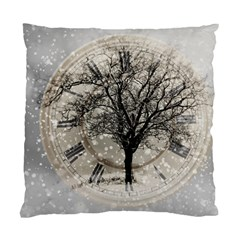Snow Snowfall New Year S Day Standard Cushion Case (two Sides) by BangZart