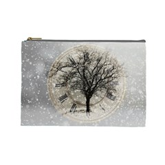 Snow Snowfall New Year S Day Cosmetic Bag (large)  by BangZart