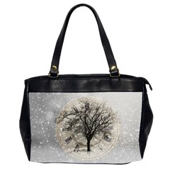 Snow Snowfall New Year S Day Office Handbags (2 Sides)