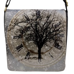 Snow Snowfall New Year S Day Flap Messenger Bag (s)