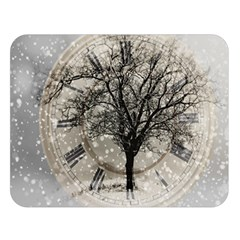 Snow Snowfall New Year S Day Double Sided Flano Blanket (large)