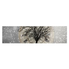 Snow Snowfall New Year S Day Satin Scarf (oblong) by BangZart