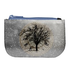 Snow Snowfall New Year S Day Large Coin Purse