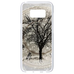 Snow Snowfall New Year S Day Samsung Galaxy S8 White Seamless Case
