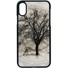Snow Snowfall New Year S Day Apple Iphone X Seamless Case (black)
