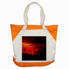 Tree Series Sun Orange Sunset Accent Tote Bag
