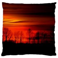 Tree Series Sun Orange Sunset Large Cushion Case (one Side)