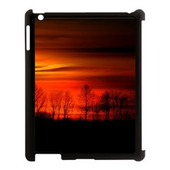 Tree Series Sun Orange Sunset Apple Ipad 3/4 Case (black)