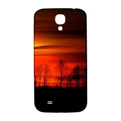 Tree Series Sun Orange Sunset Samsung Galaxy S4 I9500/i9505  Hardshell Back Case