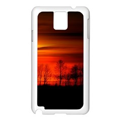 Tree Series Sun Orange Sunset Samsung Galaxy Note 3 N9005 Case (white)