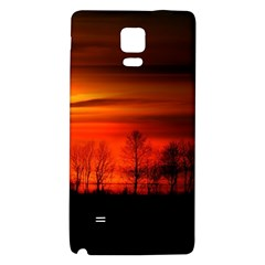 Tree Series Sun Orange Sunset Galaxy Note 4 Back Case