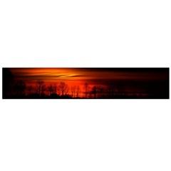 Tree Series Sun Orange Sunset Large Flano Scarf