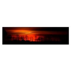 Tree Series Sun Orange Sunset Satin Scarf (oblong)