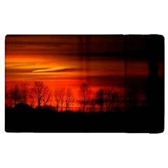 Tree Series Sun Orange Sunset Apple Ipad Pro 12 9   Flip Case