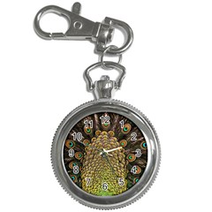 Peacock Feathers Wheel Plumage Key Chain Watches by BangZart