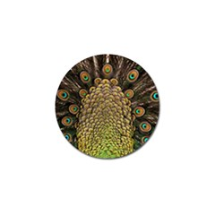 Peacock Feathers Wheel Plumage Golf Ball Marker