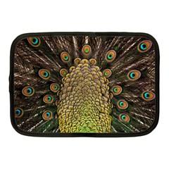 Peacock Feathers Wheel Plumage Netbook Case (medium)  by BangZart