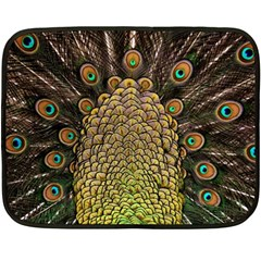 Peacock Feathers Wheel Plumage Fleece Blanket (mini)