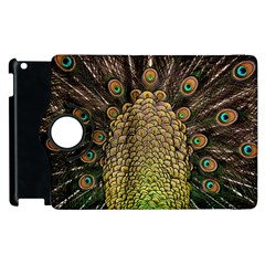 Peacock Feathers Wheel Plumage Apple Ipad 3/4 Flip 360 Case