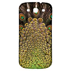 Peacock Feathers Wheel Plumage Samsung Galaxy S3 S Iii Classic Hardshell Back Case