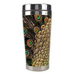 Peacock Feathers Wheel Plumage Stainless Steel Travel Tumblers by BangZart