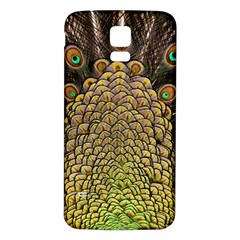 Peacock Feathers Wheel Plumage Samsung Galaxy S5 Back Case (white)