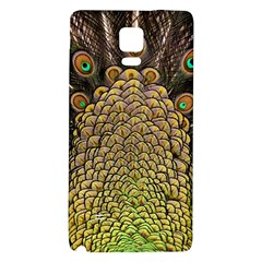 Peacock Feathers Wheel Plumage Galaxy Note 4 Back Case