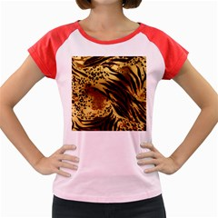 Pattern Tiger Stripes Print Animal Women s Cap Sleeve T Shirt
