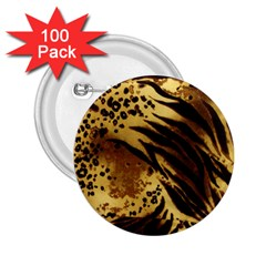 Pattern Tiger Stripes Print Animal 2 25  Buttons (100 Pack)