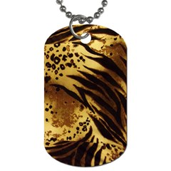 Pattern Tiger Stripes Print Animal Dog Tag (two Sides)