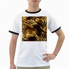 Pattern Tiger Stripes Print Animal Ringer T Shirts