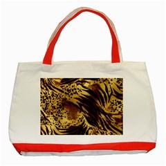 Pattern Tiger Stripes Print Animal Classic Tote Bag (red)