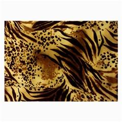 Pattern Tiger Stripes Print Animal Large Glasses Cloth