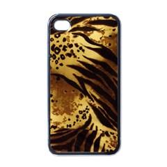 Pattern Tiger Stripes Print Animal Apple Iphone 4 Case (black) by BangZart
