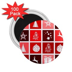 Christmas Map Innovative Modern 2 25  Magnets (100 Pack)